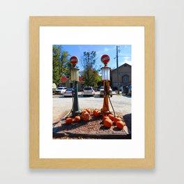 Pumpkin Gas Framed Art Print