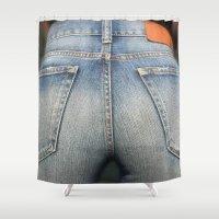 ass Shower Curtains featuring Dat Ass by RAD WORK (Rebecca Alexandre Designs)