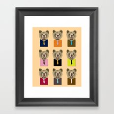 Little bear with tie Framed Art Print