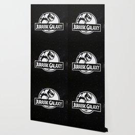 Jurassic Galaxy - White Wallpaper