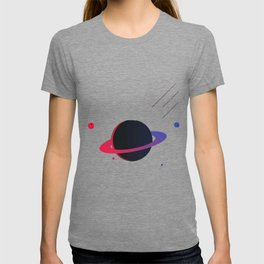 Blue and red planet T-shirt