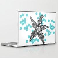 starfish Laptop & iPad Skins featuring starfish by Graphéides