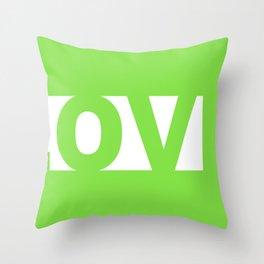 Green LOVE Throw Pillow