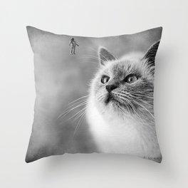 Space Meow 2 Throw Pillow
