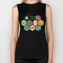 Math in color Black B Biker Tank