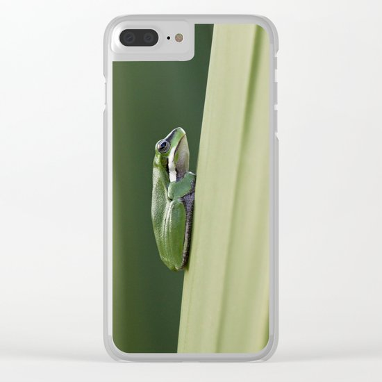 Dwarf Green Tree Frog Clear iPhone Case