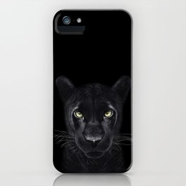 Black Panther on black iPhone Case