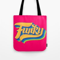 funky Tote Bags featuring Funky by Roberlan Borges