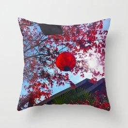 Red Lantan Throw Pillow