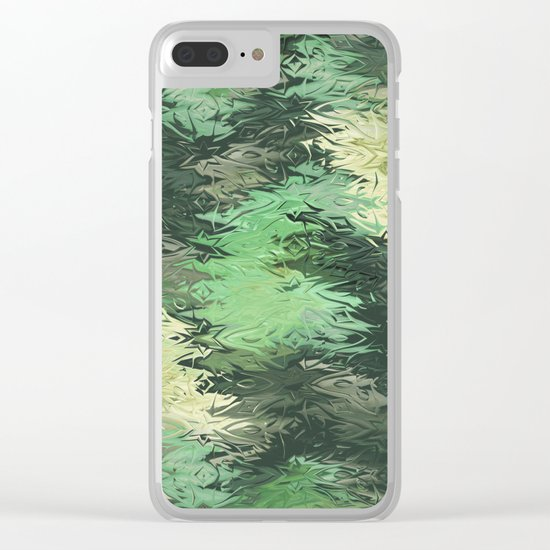 Green Illusions Clear iPhone Case