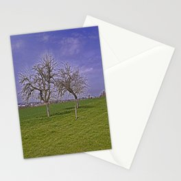 trees and fields near Laupheim Stationery Cards