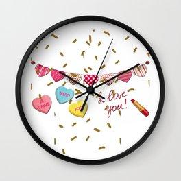 French Love  Je Taime Wall Clock