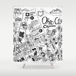 Ohio City Map Shower Curtain