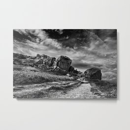 Cow & Calf Ilkley West Yorkshire Metal Print