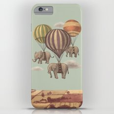 Flight of the Elephants - mint option iPhone 6s Plus Slim Case