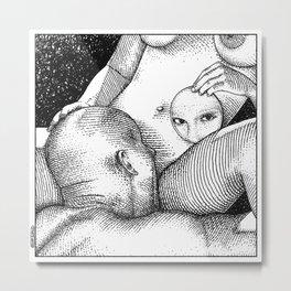 asc 681 - L'autoportrait (The man in the mirror) Metal Print