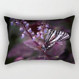 Zebra Striped Swallowtail Butterfly Rectangular Pillow