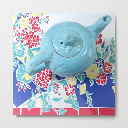 Teapot Blues Metal Print