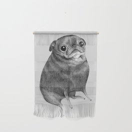 Sweet Black Pug Wall Hanging
