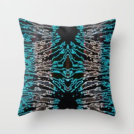 Electric magnetism Throw Pillow