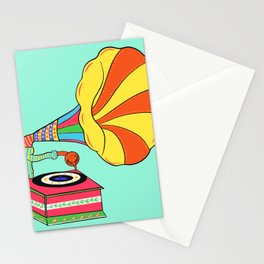 Gramophone truck art Stationery Cards