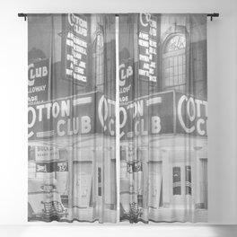 African American Harlem Renaissance Cotton Club Jazz Age Photograph Sheer Curtain