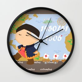 Columbus (Cristóbal Colón) Wall Clock