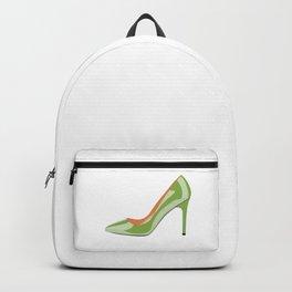 High heeled shoe in Greenery Backpack