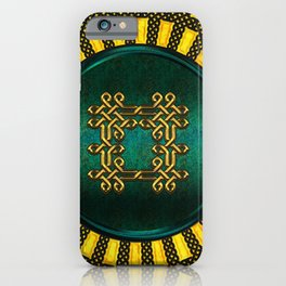 Wonderful elegant celtic knot iPhone Case