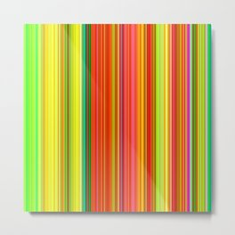 Rainbow Glowing Stripes Metal Print