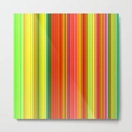 Rainbow Glowing Stripes Metal Print