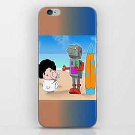 Oinkbot, the world's first surfing robot iPhone Skin