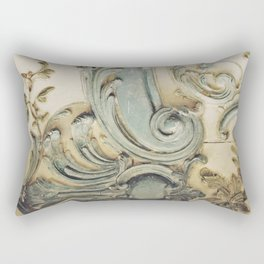 Blue Lace of Versailles Rectangular Pillow