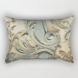 Blue Lace of Versailles Rectangular Pillow