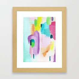 Abstract in Pastel Framed Art Print
