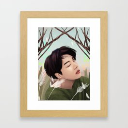 BTS JHOPE LOVE YOURSELF FANART Framed Art Print