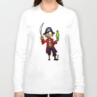 pirate Long Sleeve T-shirts featuring Pirate by Cardvibes.com - Tekenaartje.nl