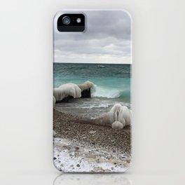 Lake Michigan Winter Waters iPhone Case