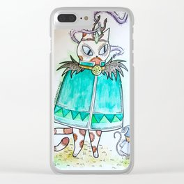Druid Kitty Clear iPhone Case