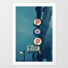Cafe Pop Boutique Art Print