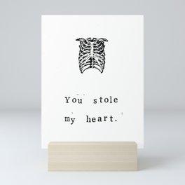 You Stole My Heart Anatomy Print Mini Art Print