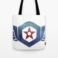 pacific rim Tote Bags featuring Pacific Rim Gipsy Danger by foreverwars