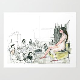 Figure Drawing, 98 Art Print