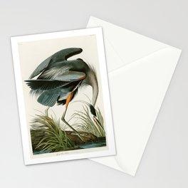 Great blue Heron - John James Audubon's Birds of America Print Stationery Cards