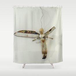 Flying Angel by Annalisa Ramondino Shower Curtain