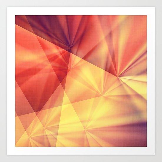 digital sunset Art Print