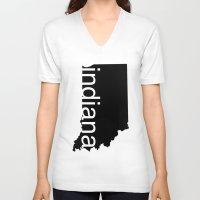 indiana V-neck T-shirts featuring Indiana by Isabel Moreno-Garcia