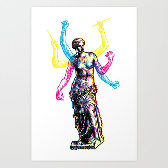 Venus de Milo is Made of Rock Art Print