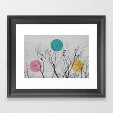 modern winter birds Framed Art Print