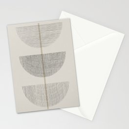 Geometric Composition III Stationery Cards